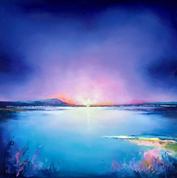 Cold Horizons by Anna Gammans - Original Painting on Stretched Canvas sized 39x39 inches. Available from Whitewall Galleries